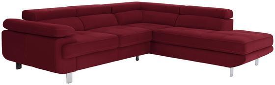 Wohnlandschaft in L-Form Savona 280x230 cm - Rot, MODERN, Textil (280/230cm) - Ombra