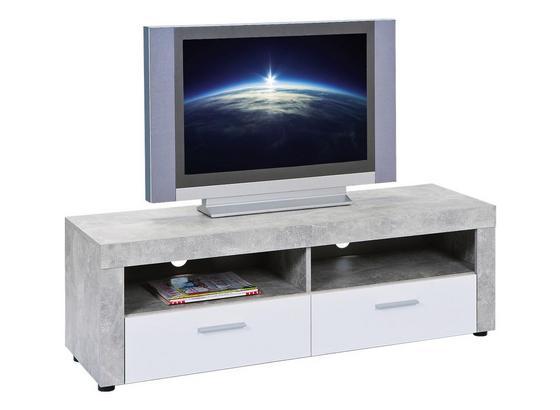 TV-Element Beton 6.3 Fsc B: 134 cm - Hellgrau/Schwarz, Basics, Holzwerkstoff (134/43/42cm) - Livetastic