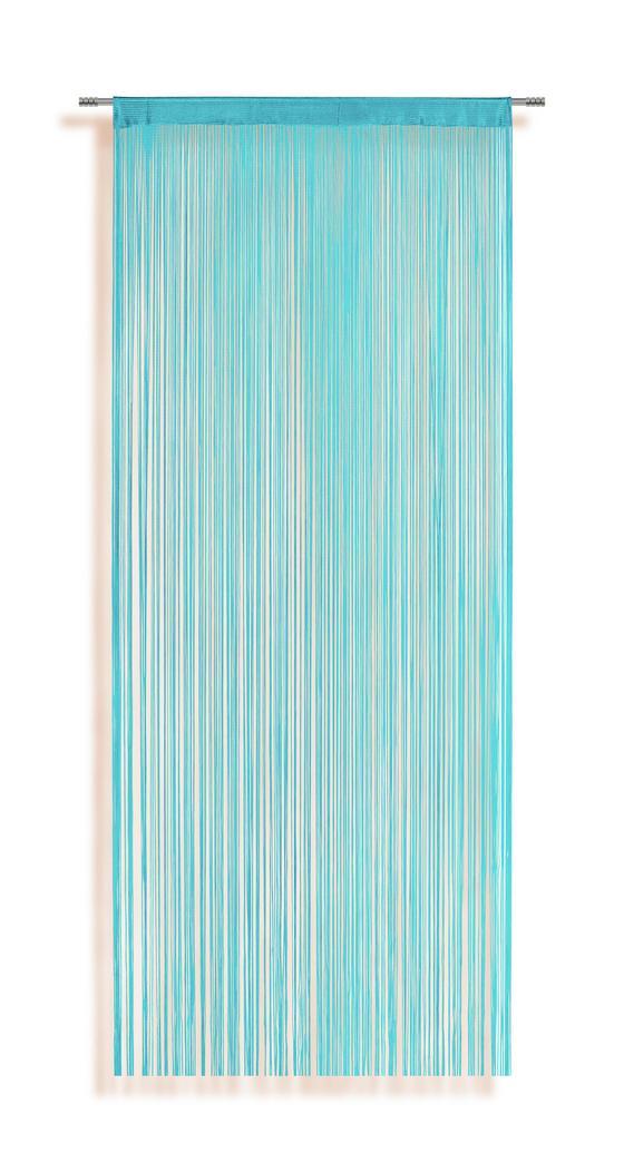 Zsinórfüggöny Marietta - Világoskék, konvencionális, Textil (90/245cm) - Ombra