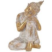 Buddha Chandrika - Goldfarben/Weiß, Basics, Kunststoff (23/17/31cm) - Ombra