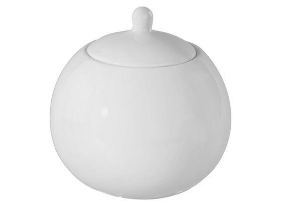 Zuckerdose Felicia - Weiß, KONVENTIONELL, Keramik (26cm) - Ombra
