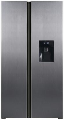 Side-by-Side-Kühlschrank mit Wasserspender