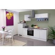 Küchenblock Lucca 270cm Weiß - Weiß, KONVENTIONELL, Holzwerkstoff (270cm) - MID.YOU