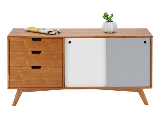 Komoda Jillian - sivá/biela, Moderný, drevo (120/60/35cm) - Mömax modern living