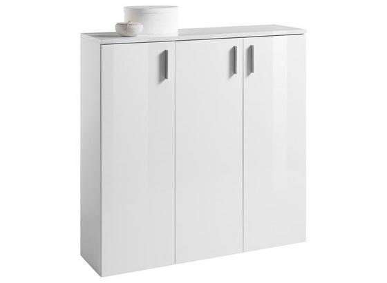 Schuhschrank Lincoln B: 120 cm Weiß - Weiß, Design, Holzwerkstoff (120/120/35cm) - Xora