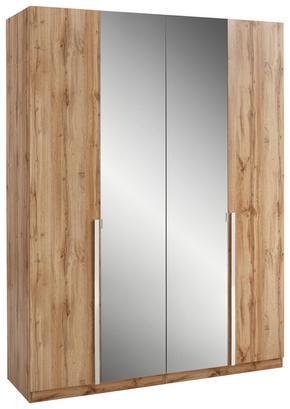 4-türiger Kleiderschrank mit Spiegeltüren und Komfort-Ausstattung