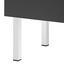 Skrinka Bianco - sivá/biela, Moderný, kov/drevo (90/86,50/35cm) - Modern Living