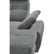 Wohnlandschaft mit Schlaffunktion Alba, Webstoff - Hellgrau, MODERN, Textil (233/349/177cm) - Carryhome