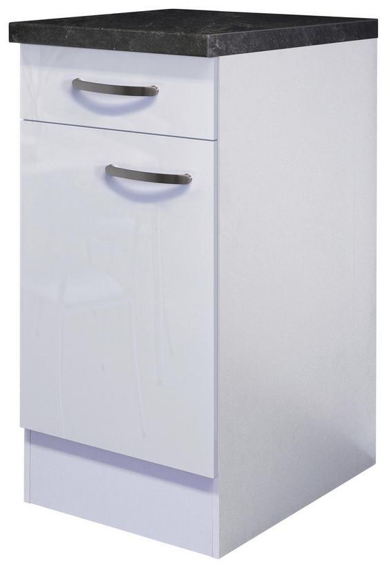 Kuchyňská Spodní Skříňka Alba  Us40 - bílá, Moderní, dřevěný materiál (40/86/60cm)