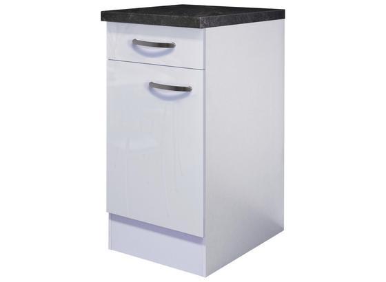 Kuchyňská Spodní Skříňka Alba  Us40 - bílá, Moderní, kompozitní dřevo (40/86/60cm)