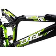 Mountainbike Mtb Atb Fully 26'' Zodiac 573m - Schwarz/Grün, Basics, Metall (180/70/100cm)