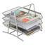 Pořadač Na Dopisy Mesh - barvy stříbra, kov (35/27,5/29,5cm) - Homezone