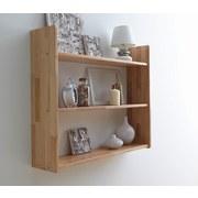 Hängeregal Simone 90x74cm Massiv, Buche - Buchefarben, Basics, Holz (90/74/20cm) - Carryhome
