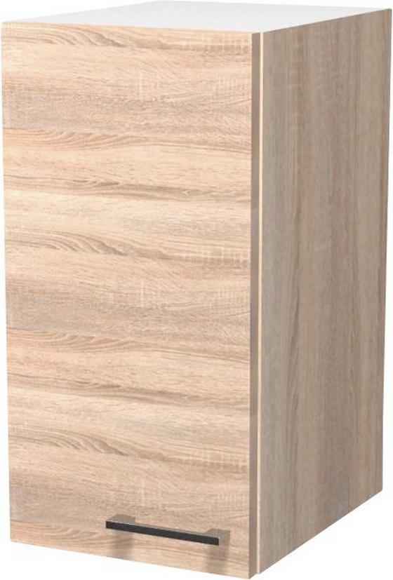 Kuchyňská Horní Skříňka Samoa  H 30 - bílá/barvy dubu, Konvenční, dřevěný materiál (30/54/32cm)