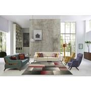 Webteppich Palermo 160/230 - Rot/Grau, MODERN, Textil (160/230cm)