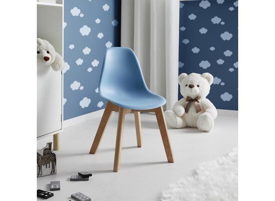 Detská Stolička Tibby - svetlomodrá, Moderný, drevo/plast (30/56,5/32,5cm) - Mömax modern living