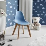 Detská Stolička Tibby - svetlomodrá, Moderný, umelá hmota/drevo (30/56,5/32,5cm) - Mömax modern living