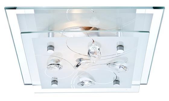 Mennyezeti Lámpa Isabell - konvencionális, üveg/fém (24/9/24cm)