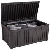 Keter Kissenbox Rockwood 155x64,5x72cm 570l Dunkelbraun - Braun, MODERN, Kunststoff (155/64,5/72cm) - Keter
