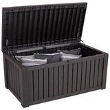 Keter Kissenbox Rockwood 570 L ca. 155/64,5/72cm - Braun, MODERN, Kunststoff (155/64,5/72cm) - Keter