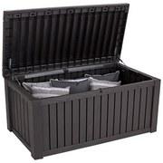 Keter Kissenbox Wasserfest Rockwood 155x64,5x72 cm 570l - Braun, MODERN, Kunststoff (155/64,5/72cm) - Keter