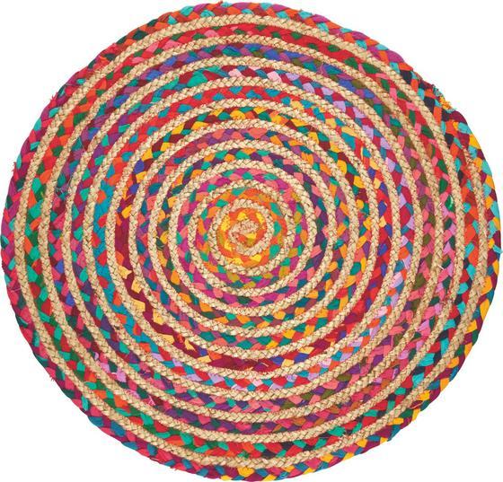 Vorleger Dillon Ø 60 cm - Multicolor, KONVENTIONELL, Textil (60cm) - Ombra
