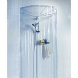 Duschvorhang mit Aufhängung Ombrella - Klar, MODERN, Kunststoff (200/170cm) - Spirella