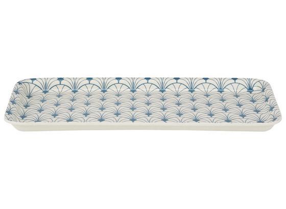 Serviertablett Tavis - Blau/Beige, KONVENTIONELL, Holz/Kunststoff (16/30cm) - Luca Bessoni