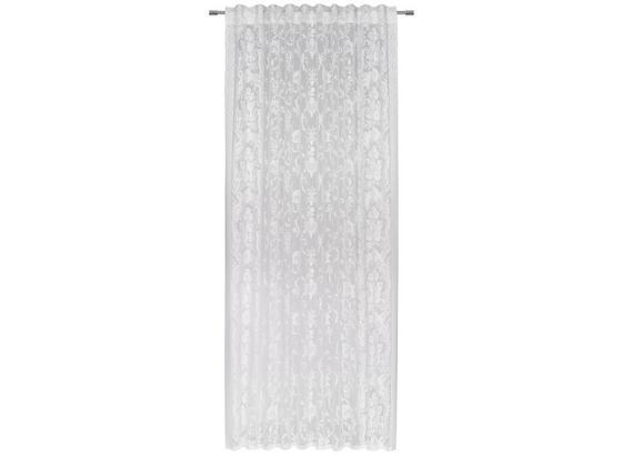 Kombinovaný Závěs Carmen - bílá, textil (140/245cm) - Modern Living