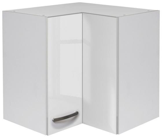Rohová Horní Skříňka Alba  He 60 - bílá, Moderní, dřevo/dřevěný materiál (60/54,8/32cm)