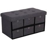 Lavice Bench - Moderní, textil/dřevěný materiál (76/38/38cm)