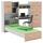 Jugendzimmer Start-Up - Eichefarben/Weiß, KONVENTIONELL, Holzwerkstoff (278,2/187,3/232,2cm) - MID.YOU
