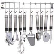 Küchenhelferset 9-teilig - Silberfarben, MODERN, Metall (50cm)