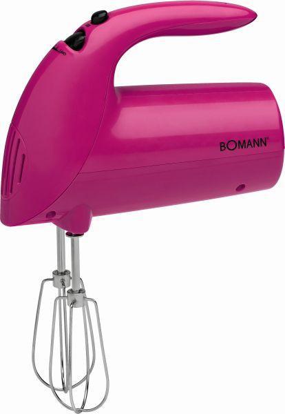 Handmixer Bomann - Pink, KONVENTIONELL, Kunststoff (18/28/9cm) - BOMANN