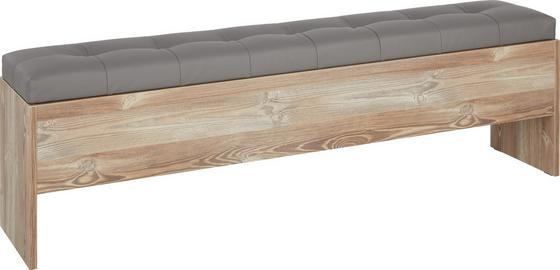Truhlová Lavice Chanton - barvy borovice/tmavě šedá, Lifestyle, kov/dřevěný materiál (185/56/36,8cm) - Based