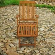 Gartenliege Sun Flair B: 58 cm Braun - Braun, Basics, Holz (58/86/141cm) - Ambia Garden