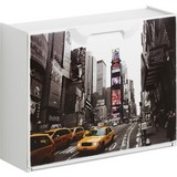 Schuhkipper New York 1 - Gelb/Schwarz, MODERN, Kunststoff (51/40,1/17,3cm)