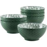 Schüsselset Telde 6-Tlg. Grün - Grün, Basics, Keramik (41,3/26,6/32,6cm)