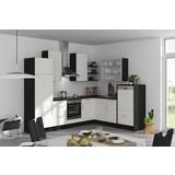 Eckküche Fargo 285x220cm Weiß/Schiefergrau - Weiß/Grau, MODERN, Holzwerkstoff (285/220cm) - Vertico