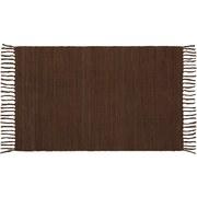 Handwebteppich Annika - Braun, Textil (70/120cm) - Ombra