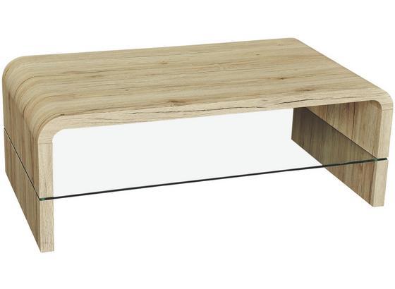Konferenční Stolek Aruba Ii - barvy dubu/čiré, Moderní, kompozitní dřevo/sklo (110/41/60cm) - Mömax modern living