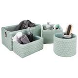 Regalkorb Ingetraud - Mintgrün, ROMANTIK / LANDHAUS, Kunststoff/Textil - James Wood