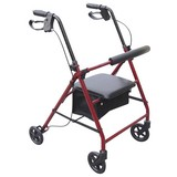 Rollator Classic - Rot, MODERN, Metall (7,6kg)
