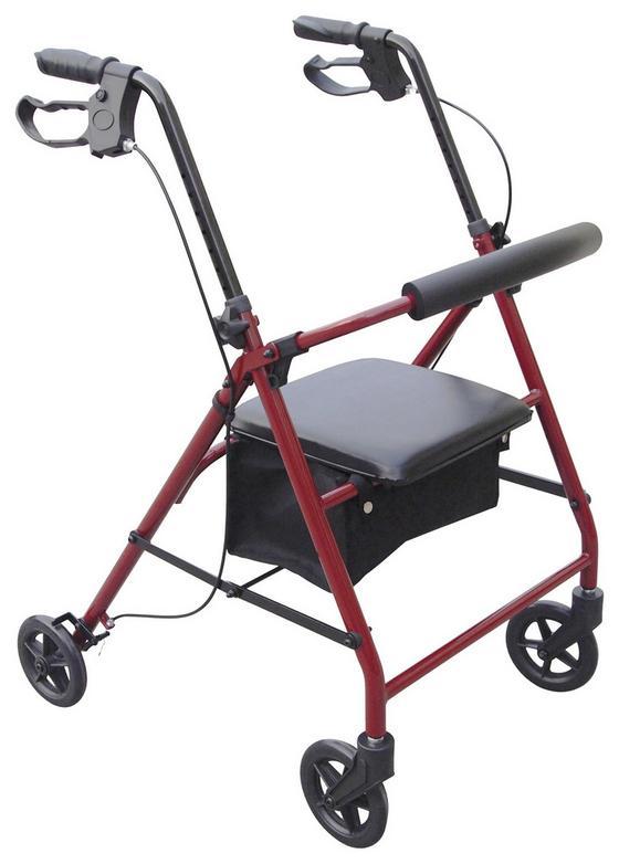 Rollator Classic - Rot, MODERN, Metall (7,6kg)