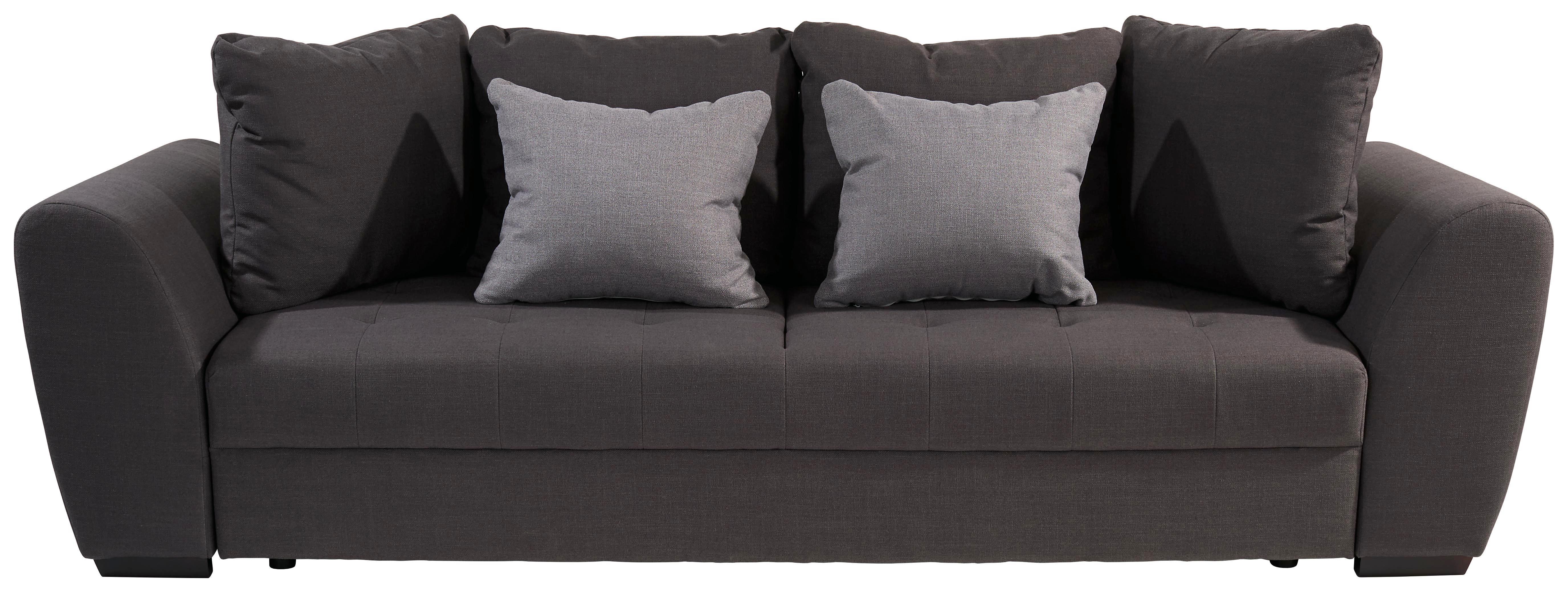 Bigsofa Florenz   Anthrazit/Hellgrau, ROMANTIK / LANDHAUS, Textil (258/95