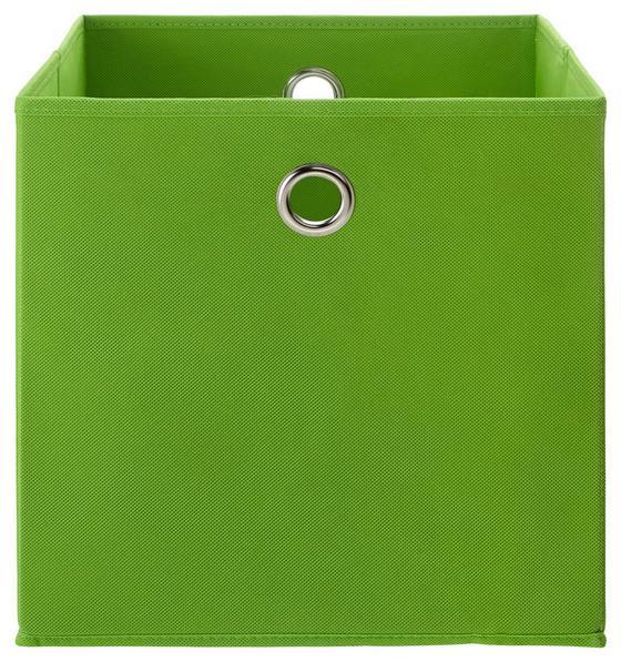 Skládací Krabice Fibi -ext- -top- - zelená, Moderní, kov/karton (30/30/30cm) - Modern Living