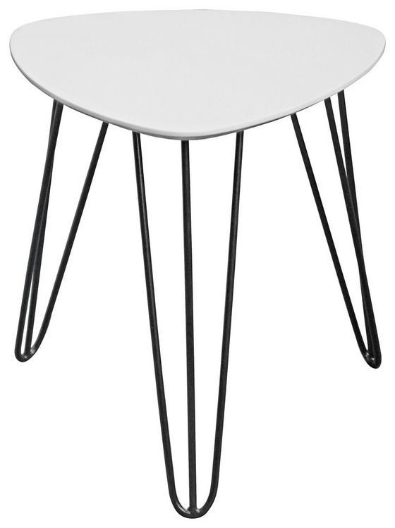 Beistelltisch Tropf - Schwarz/Weiß, MODERN, Holzwerkstoff/Metall (40/42/40cm) - Homezone