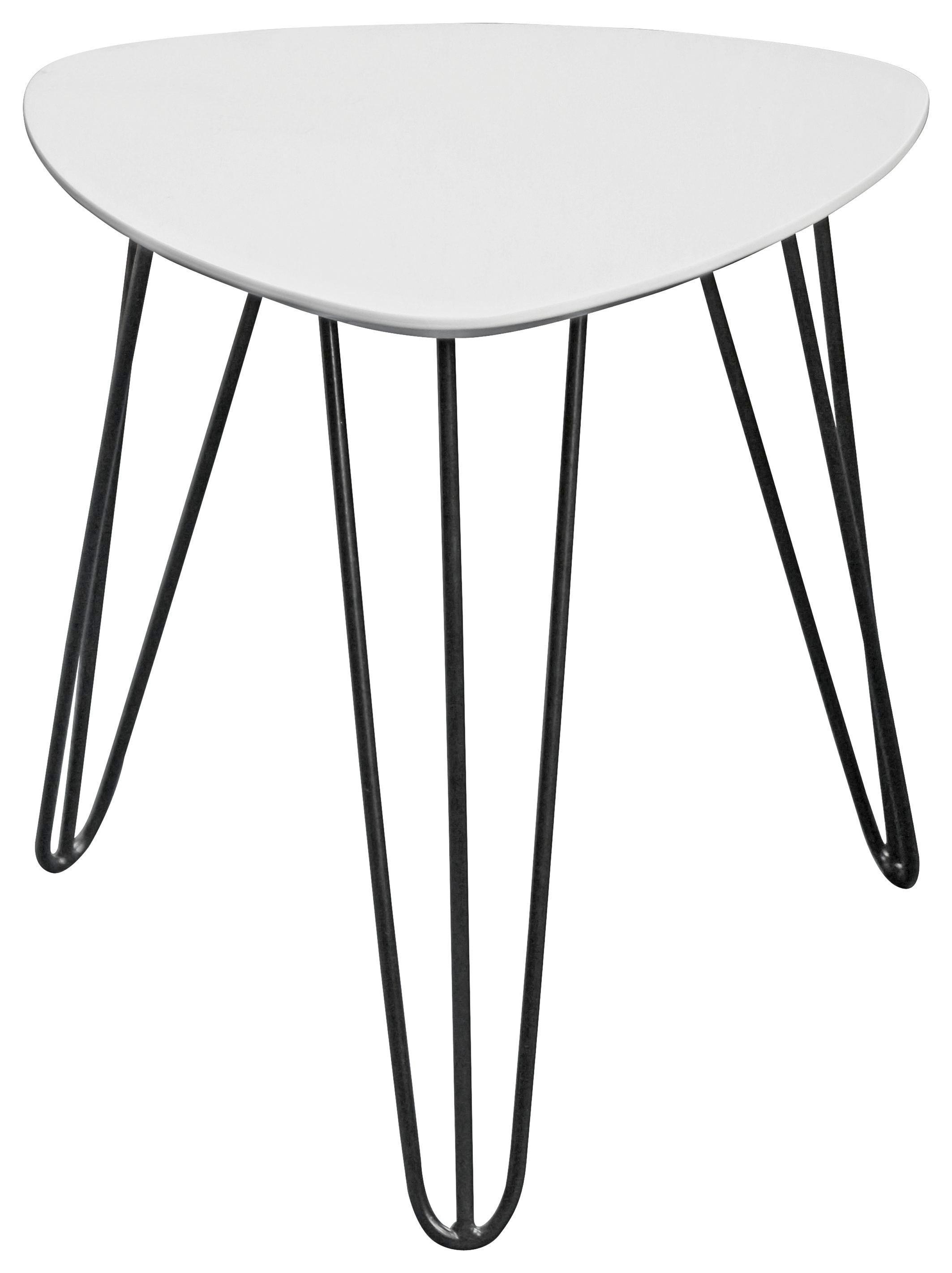 Kisasztal Tropf - fekete/fehér, modern, fém/faanyagok (40/42/40cm)
