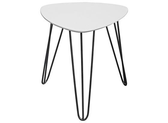 Odkladací Stolík Tropf - čierna/biela, Moderný, kov/kompozitné drevo (40/42/40cm) - Homezone