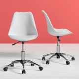 Otočná Stolička Nico - biela/farby chrómu, Moderný, umelá hmota/kov (58/80,5/64cm) - Modern Living
